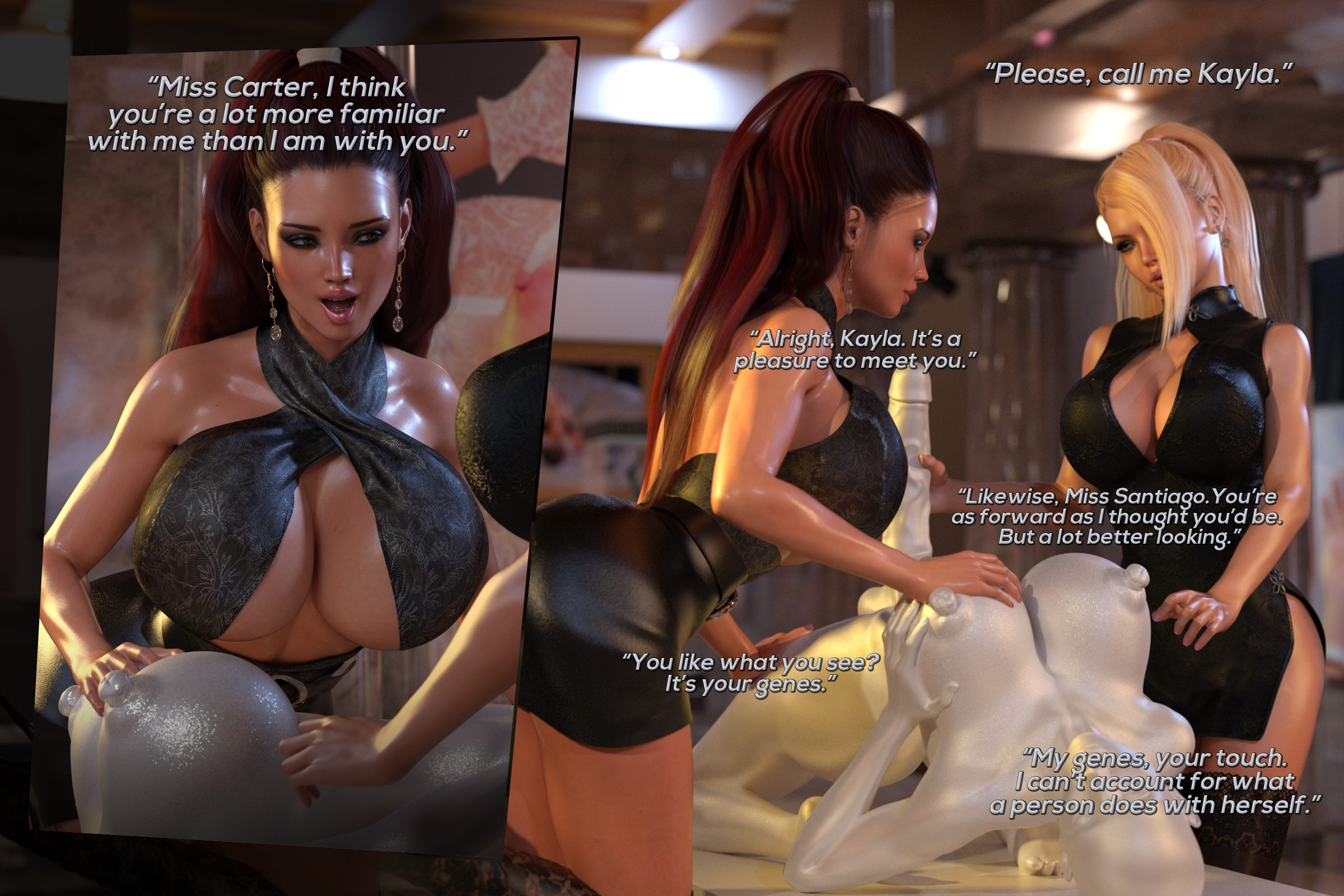 Lust Unleashed – Kayla Meets Marcella [TheDude3DX] | Porn Comics
