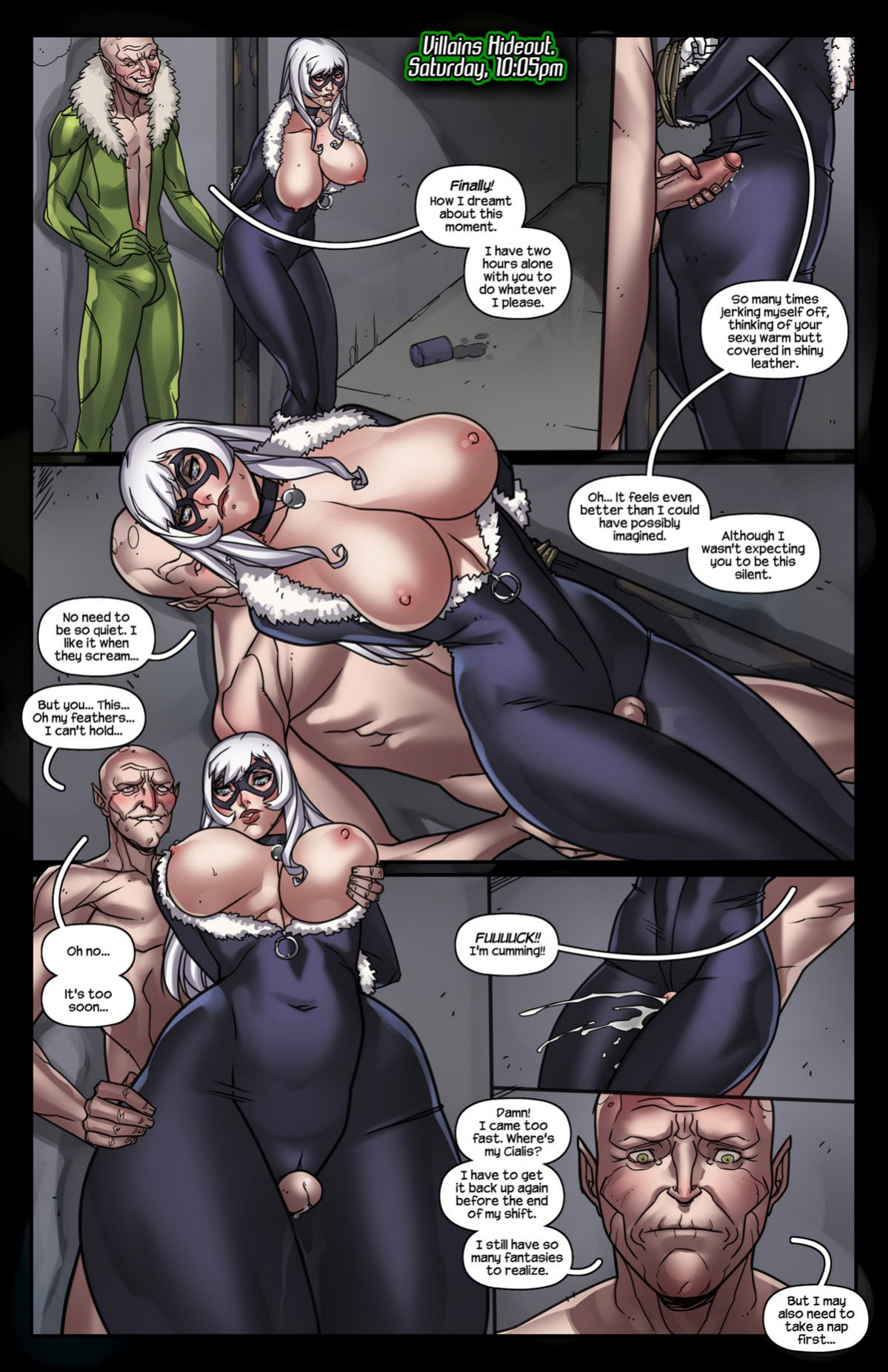 Sinister Six Against the Black Cat