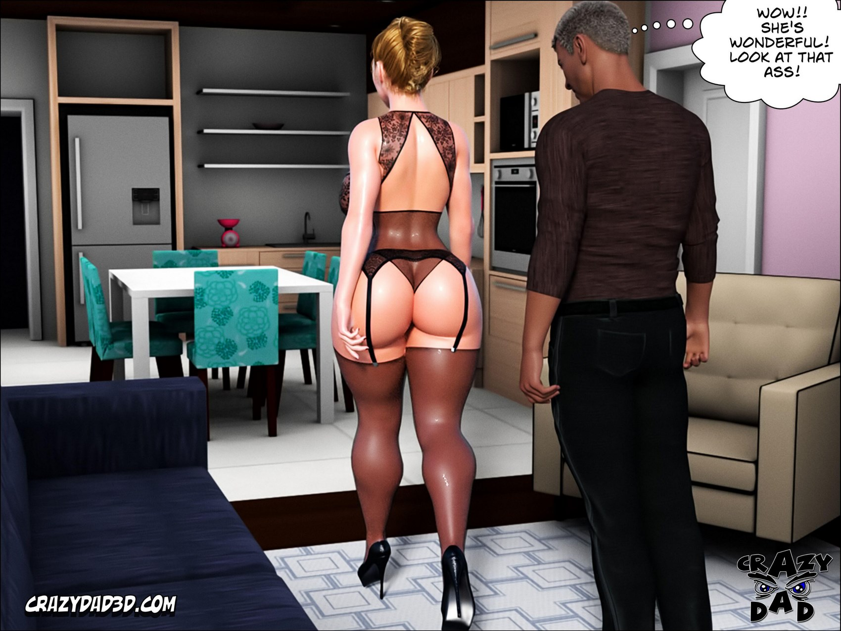 Father In Law At Home- CrazyDad3D