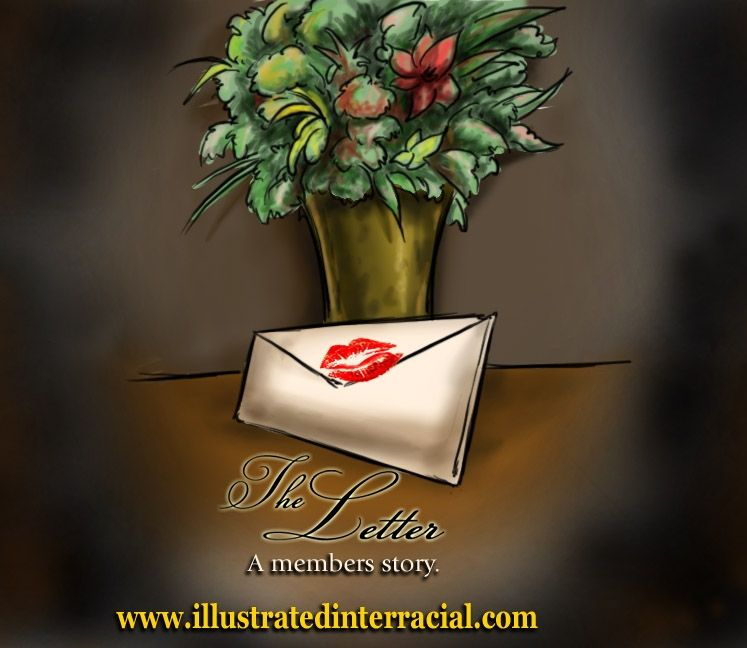 illustrated interracial-The Letter
